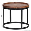 Picture of Solid Wood Round Set Of Side Table With Border On The Top