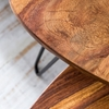 Picture of Solid Wood Sheesham Oval Shaped Set Of Table