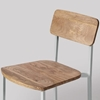 Picture of Solid Wood And Iron Set Of 2 Chair in Light Grey