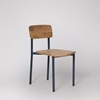 Picture of Solid Wood And Iron Set Of 2 Chair in Navy Blue