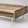 Picture of Solid Wood Finly Coffee Table With Brass Finished Legs