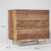 Picture of Solid Wood Halle Chest Of Drawer With Brass Stand
