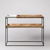 Picture of Solid Wood And Iron Console With Marble And Wood On The Top