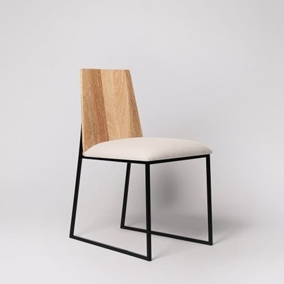 Picture of Solid Wood And Iron Kehl Set Of Chair