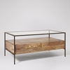 Picture of Solid Wood Mockay Coffee Table With Glass Top