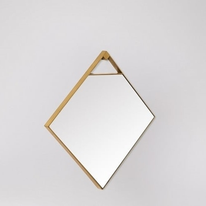 Picture of Rectangual Mirror In Brass Finish