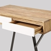 Picture of Solid Wood Mickey Desk With 2 White Drawers