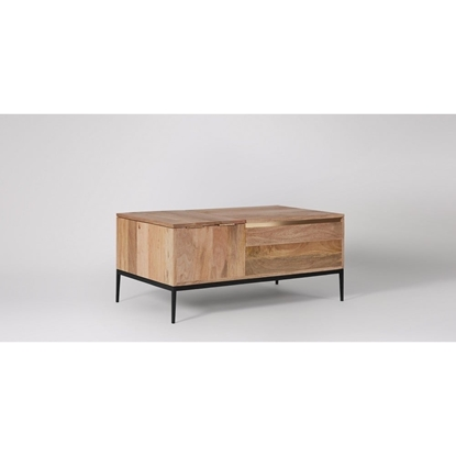 Picture of Solid Wood Mosby Trunk With Iron Stand