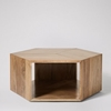 Picture of Solid Wood Osby Hexagonal Coffee Table In Natural Finish