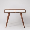 Picture of Solid Wood Sheesham Otto Desk In With 2 White Drawers