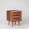 Picture of Solid Wood South Bedside In Honey Oak Finish