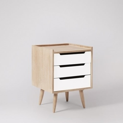 Picture of Solid Wood South Bedside In White Finish