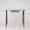 Picture of Solid Wood South Desk In Grey Finish