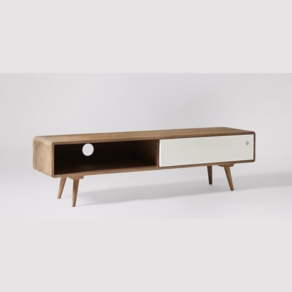 Picture of Solid Wood Tv Stand With Sliding Door