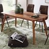 Picture of Solid Wood Sheesham Dining Table With Rounded Corners