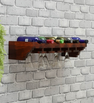 Picture of Sip-Sip Sheesham Wood Shelf By Woodenmood
