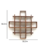 Picture of Solid Wood Sheesham 13 Cube Turtle Wall Shelf