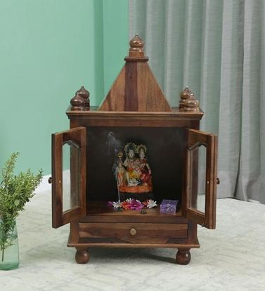 Picture of Devo Sheesham Wood Pooja Mandir