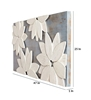 Picture of White Solid Wood Flower Wall Art