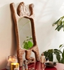 Picture of Wooden Carved Tiger Wall Mirror