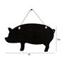 Picture of Black Piggy Shape Hanging Chalkboard