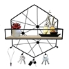 Picture of Iron Hexa Wall Shelf With Hooks