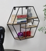 Picture of Iron and Wood Hexagon Wall Shelf
