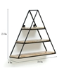 Picture of Iron and Wood Triangle Wall Shelf