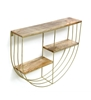 Picture of Iron and Wood Semi Circle Wall Shelf