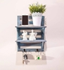 Picture of Mango Wood Floating Wall Shelf in Blue Colour