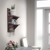Picture of Mango Wood Floating Wall shelf in Walnut Finish