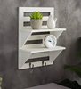 Picture of Mango Wood Floating Wall shelf in White Colour