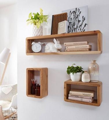 Picture of Mango Wood Set Of 3 Floating Wallshelf