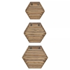 Picture of Hexagonal Wood Shelf Set of 3