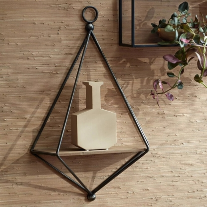 Picture of Black and Brown Triangular Wall Shelf
