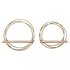 Picture of Set of 2 Floating Rings Wall Shelves In Gold Finish