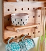 Picture of Solid Wood  Rectangular Wall Shelf With Key Holder