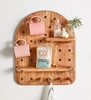 Picture of Solid Wood Semi Circular Wall Shelf With Key Holder